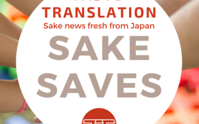 Sake saves the world, or at least the children, allegedly